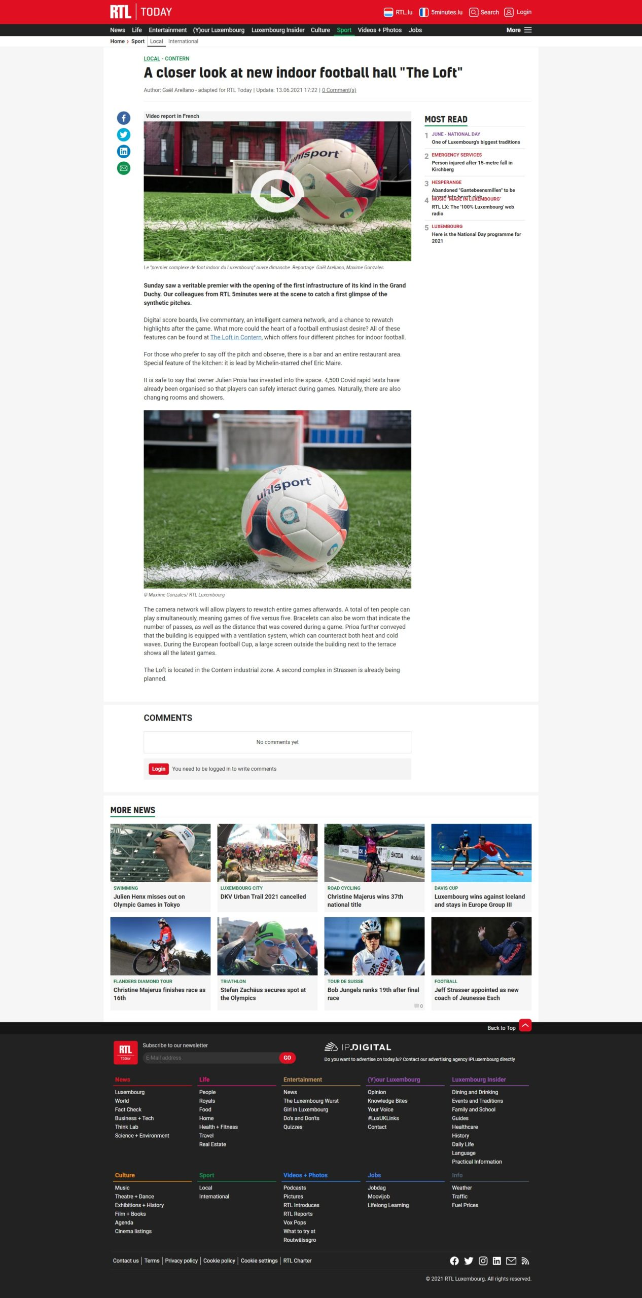 The LOFT : RTL - Today du 6 juin 2021